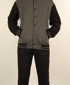 Criminal Damage-Varsity Sweat-Grey/Black