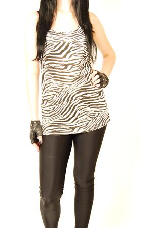 Queen of Darkness-Zebra T-Vest