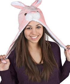 Fleece mössa - Rosa kanin