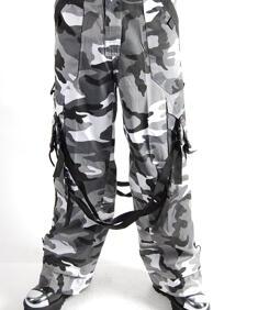 Byxor-Baggy Military -Grey