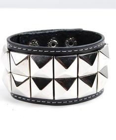 2 Row-Buttom Stud-Armband