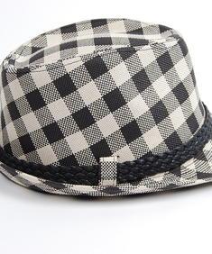 Checker Hat-Blk/Wht
