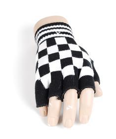 Handskar-Fingerless Skull-Blk/white