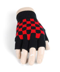 Handskar-Fingerless Formella-Blk/Red