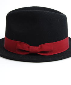 Bow Hat-Blk/Red