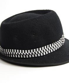 Checker Hat-Blk-Wht