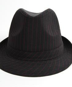 Hat-pinstrip blk/red