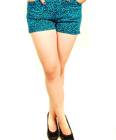 Darkside-Blue Leopard Hot Pants