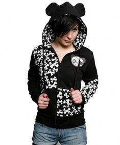 Girl Hoodie-Edward scissor hands panda-Cd