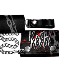 Korn - Chain Wallet With Metal Badge
