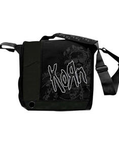 Korn- Black Messengerbag With Logo/Print