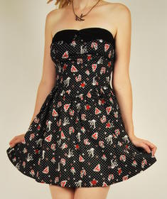 Hell Bunny-Hearts and bones-Dress