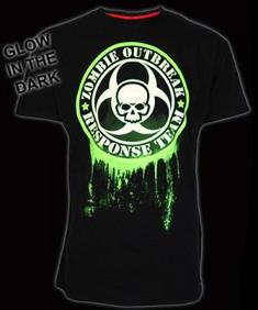 Darkside-Glow In The Dark Green Zombie Response T-Shirt