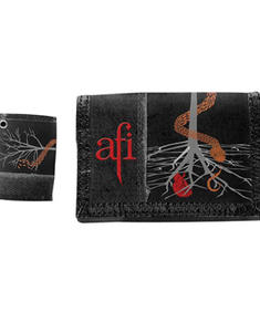 AFI - fabric wallet with logo print