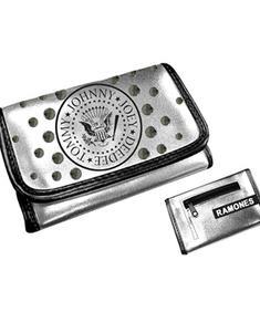 Ramones - Silver Girls wallet w/ Logo Front