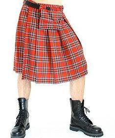 Short Kilt Tartan Red