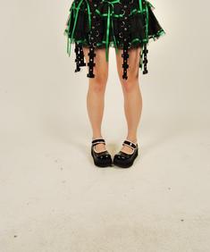 Hell Bunny alternativ kjol/grön