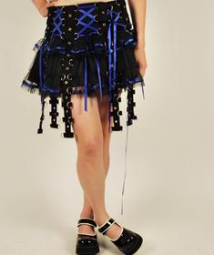 Hell Bunny alternativ kjol/blå
