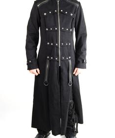 Tripp-Dark Skull Stud Throne Coat