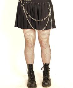 Xs Punk-Pleated Chains