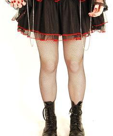 Xs Punk-Chained Laceskirt