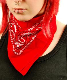 Röd bandana/sjal