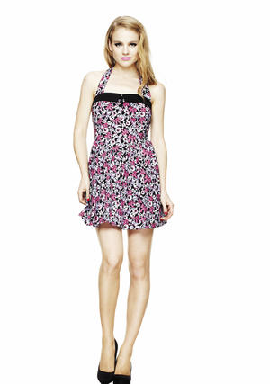 Hell Bunny Cyanide Dress PINK