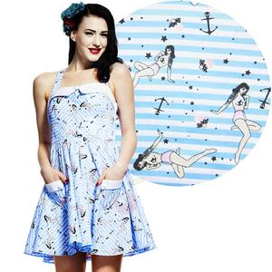 Hell Bunny Selby Mini Dress BLUE