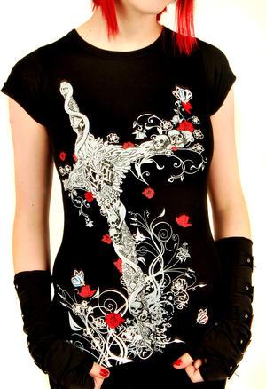 Dödskallekors t-shirt