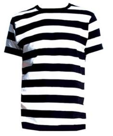 Stripes black and white t shirt