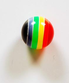 Regnbåge - piercingkula
