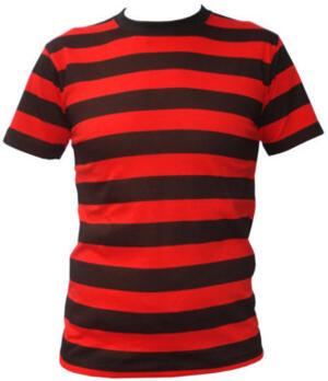 Stripes black/red t-shirt