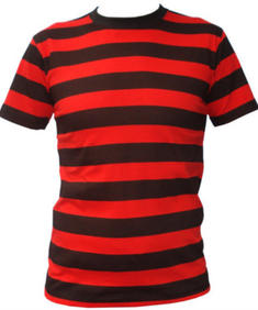 Stripes black/red t-shirt