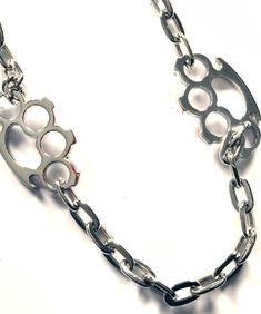 Knuckleduster kedja (silver)