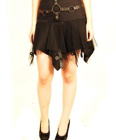SDL-Leather Cross Skirt