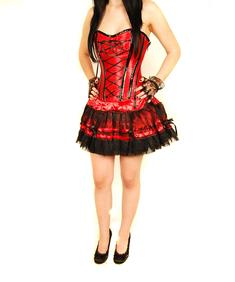Burleska-Corset Dress-Red