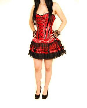 Burleska-Corset Dress-Red