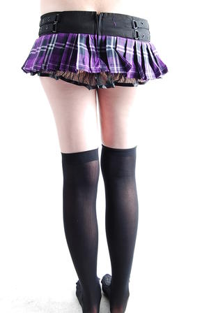 Lila och rutig lds kjol
