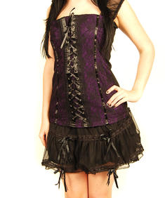 Raven-Purple Corset Top