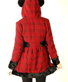 Hell Bunny-Mika Lumber Coat-Red