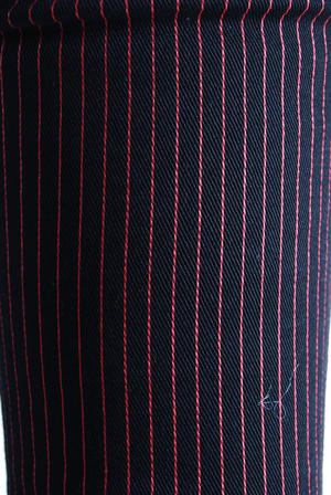 Byxor-Pinstripe red/black-LDS