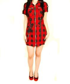 Living Dead Sous-Bondage Red Carbon-Dress