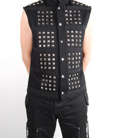 Criminal Damage-Stud Vest