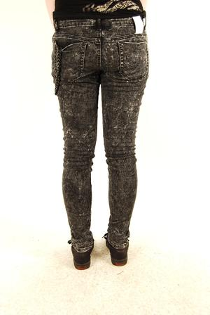 Criminal Damage-Ice Black Stretch Jeans