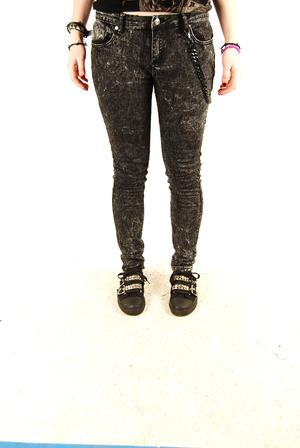 Criminal Damage-Ice Black Stretch Jeans
