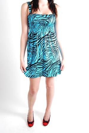 Give More-Smock Dress Pink Zebra
