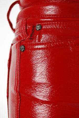 Tripp-Leather Pants Red
