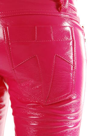 Tripp-Leather Pants Pink