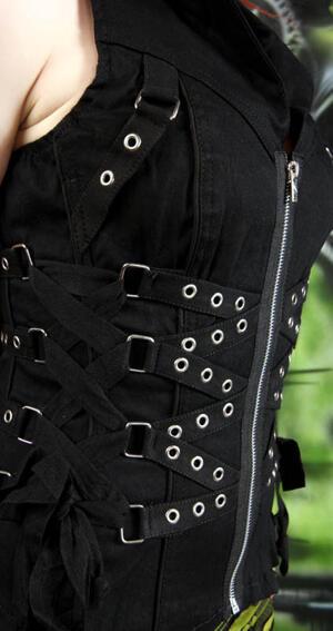 Tripp N.Y.C. Side lace up corset,top.