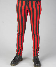 Girl Jeans-Pinstripe Red/Black-HB